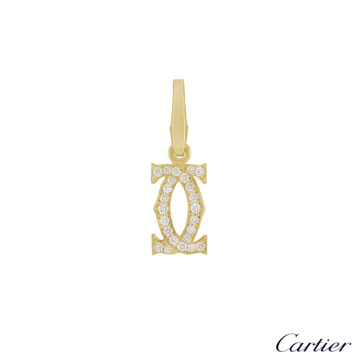 C de Cartier Yellow Gold Diamond Charm